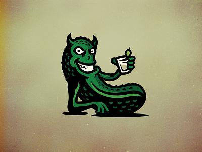 Naughty Pickle drink naughty pickle pickle branding logo vector illustrator illustration design