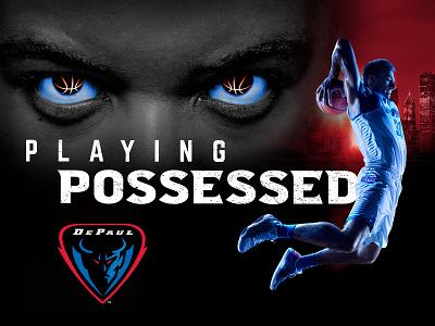"DePaul Blue Demons ""Playing Possessed"" depaul blue demons depaul chicago college basketball basketball after effects design"