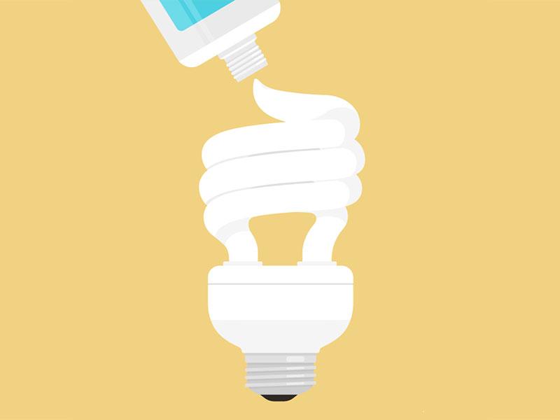 #1 alejandromilàstudio illustrator toothpaste light vector conceptual illustration illustration