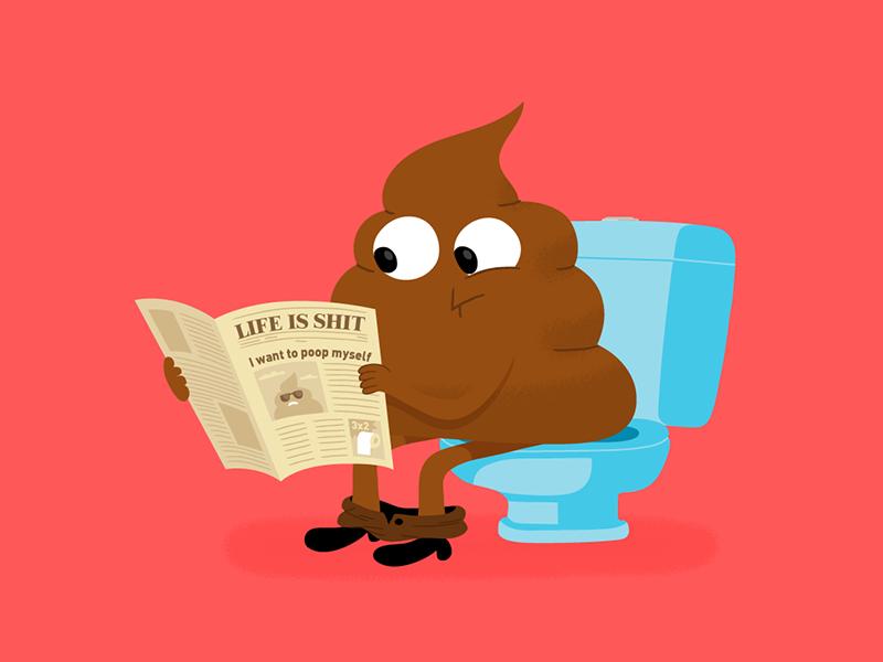 #4 alejandromilàstudio illustrator news newspaper restroom toilet pooping poop shit vector conceptual illustration illustration