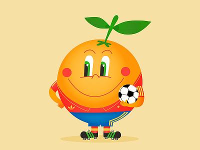 Naranjito futbol football vector mascot naranjito españa 82 soccer world cup fifa spain españa illustration