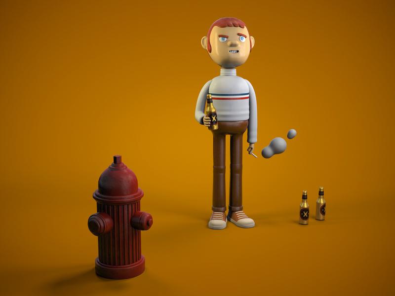 Thank God is Thursday! beer time beer 3d alejandromila cinema4d c4d character illustration character design