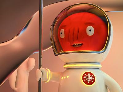 New Horizons 3d drawing alejandromila character cinema4d c4d character design