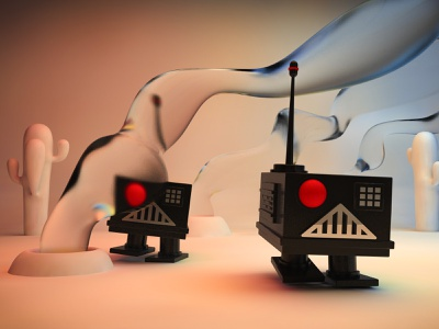 """New Horizons"" · Little robots alejandromila character illustration 3d cinema4d c4d character design"