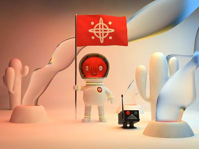 New Horizons space conquest robot alien space art cinema4d 3d alejandromila character drawing character design illustration c4d