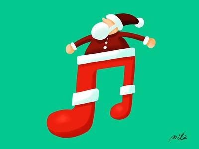 Merry Christmas & Happy New Year 20q9 christmas card papa noel joeux noel santa claus happy new year merry christmas alejandromila illustration