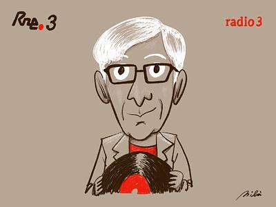Juan de Pablos radio3 flordepasion character juandepablos alejandromila illustration