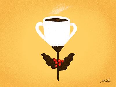 #14 iphone conceptual conceptual illustration coffee grower café costa rica coffee doodleart doodle procreate ipadpro alejandromila drawing illustration
