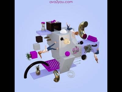 Trendy 3D Poster