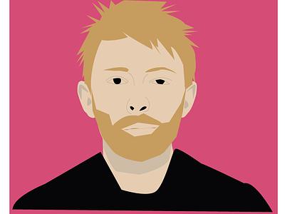 Thom Yorke artist design celebrity illustraion radiohead