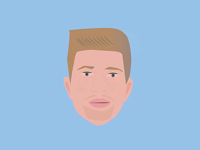 """Kevin De Bruyne """"KDB"""" manchester city football sports brushes illustration illustration art illustrator celebrity design"""
