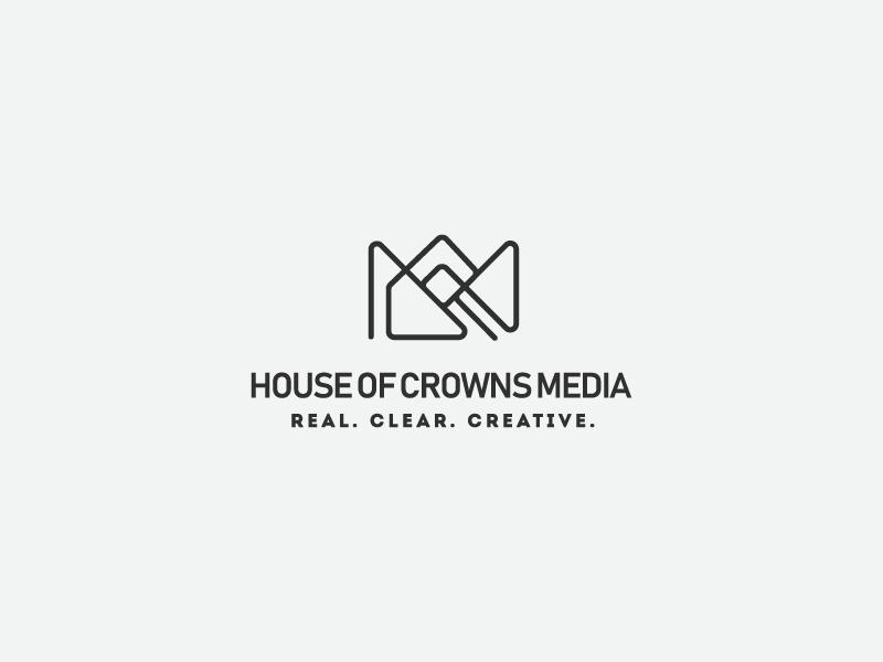 House Of Crowns Media дизайн вектор логотип брендинг. идентичность графический дизайн