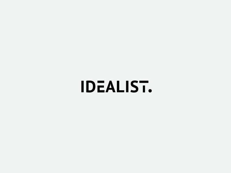 Idealist вектор логотип дизайн дизайн логотипа брендинг. идентичность графический дизайн