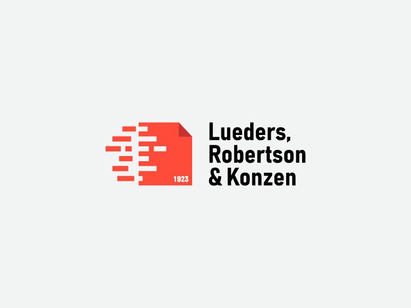 Lueders  Robertson   Konzen дизайн вектор логотип дизайн логотипа брендинг. идентичность графический дизайн