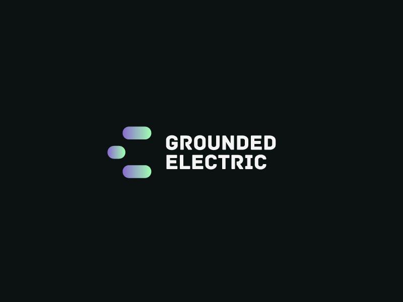 Grounded Electric вектор дизайн дизайн логотипа логотип брендинг. идентичность графический дизайн