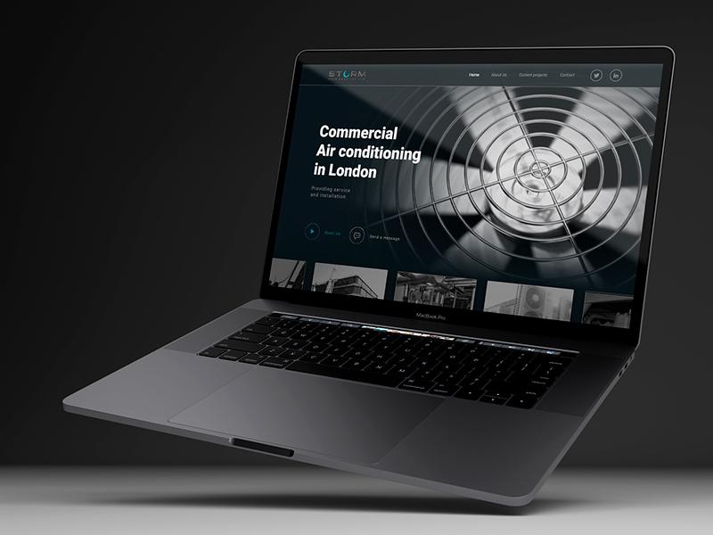 Storm Refrigeration Ltd ux  ui ui designs web  design графический дизайн