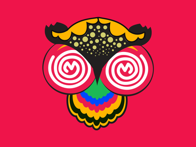 "Lokkhi Pencha (লক্ষ্মী পেঁচা) Folk motif of ""Owl"""