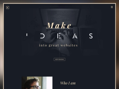 New portfolio (wip) landing page sketch work in progress typography web designer front-end developer portfolio web design