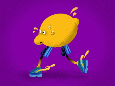Making Lemonade stipple lemon texture characterdesign character drawing color graphic design procreate illustration