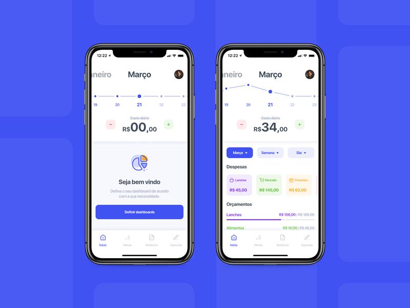 Case Finance typography ui ux money mobile icon app finance design