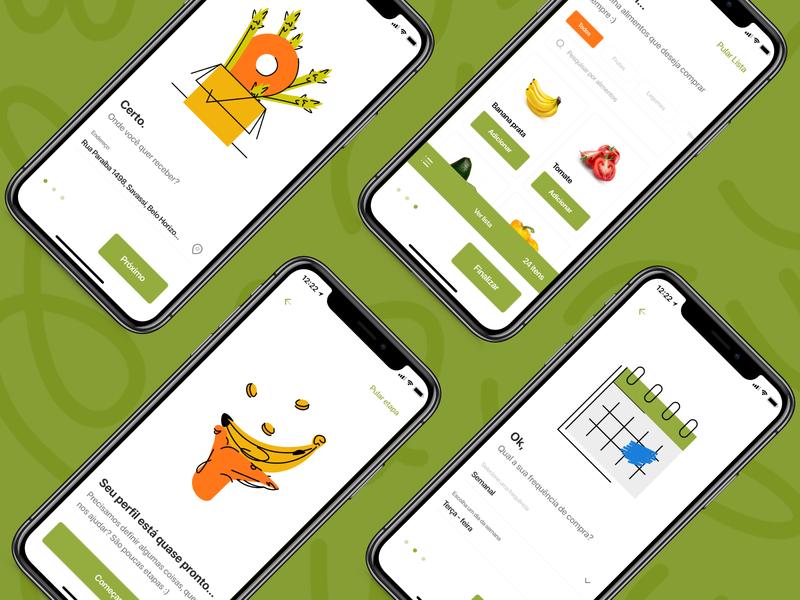 Case Go Green green ux ui mobile illustration design app