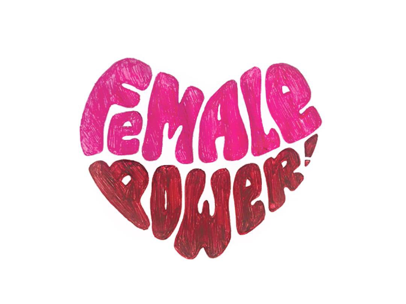 Female Power equals rights girls female empowerment female empowerment graphic design design lettering type typography