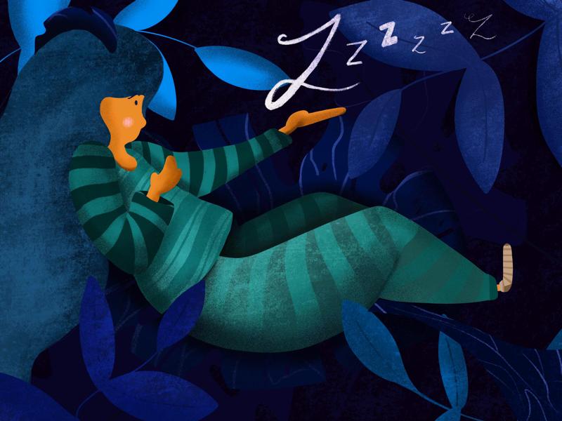 Catching Zs ipadpro character design procreate dream character art graphic design graphics design digital design digital illustration