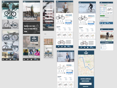 Web Project - Bicycle E-Commerce ux design mockup xd design adobe xd