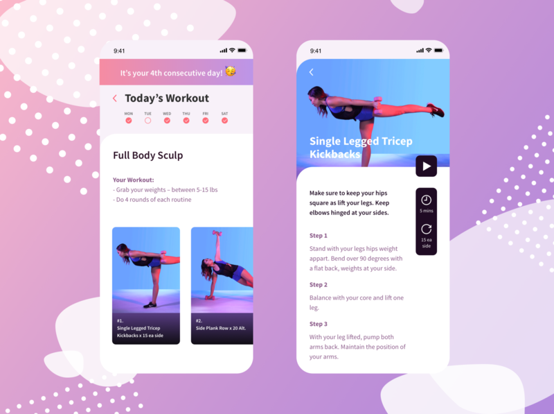 Bi-weekly UI Challenge 01 - Workout of the Day