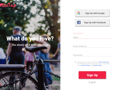 Daily 001 - Sign Up 100 days of ui challenge daily ui challenge