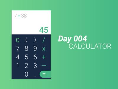 Day #004 - Calculator ui design daily ui 004 100 days of ui challenge daily ui