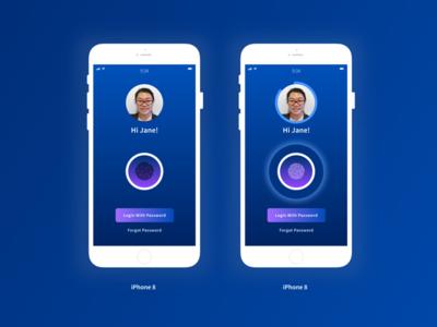 UI Challenge - Mobile Smart Login design ui xd ui challenge