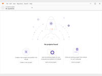 Homescreen GitLab desktop client