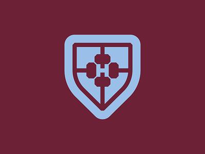 The Hammers shield premier league epl sports team club united west ham london english hammer crest football logo