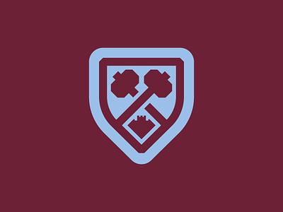 West Ham United badge hammers castle logo crest league premiere english epl soccer club football united west ham