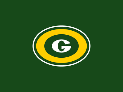 Green Bay Packers green g letter flat clean badge logo national american sports club football nfl packers green bay