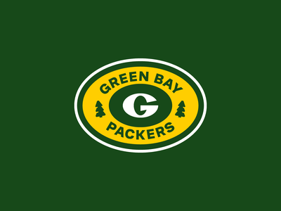 Green Bay Packers flat clean simple team g letter tree nfl american sports badge football logo packers green bay green
