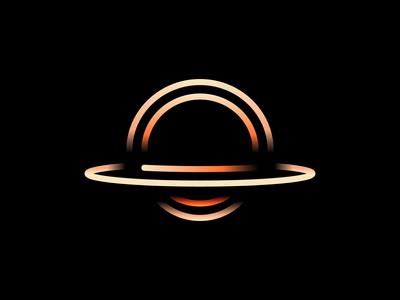 Black Hole darkness light lines icon logo interstellar void space hole black