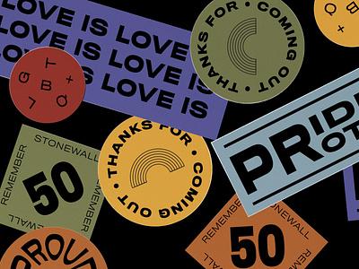 🌈 Pride Stickers 2019 ⚧ illustration stickers rainbow lgbtq lgbtqia pride pride 2019