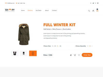 Product Page shope ux ui ecomerce light white featured products template cart store market