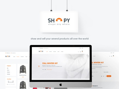 Shopy - Ecomerce PSD Template creative psd template shop market products slider featured white ecomerce ui ux