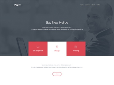 Jayda - Home Page menu header ui ux cms featured services about companies template psd home