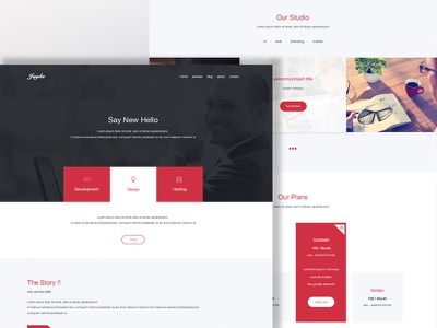 JAYDA - Creative One Page personal one page flat contact showcase blog services portfolio company web ui ux
