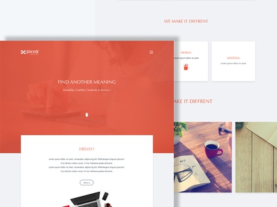 xCO 2 Multipurpose Template ui ux home services about contact footer header featured menu search social