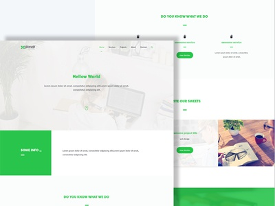 xCO 3 Multipurpose Template social search menu featured header footer contact about services home ui ux
