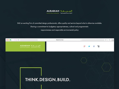 Al-Rabiah-ARCHITECTURAL-ENGINEERING social search menu featured header footer contact about services home ui ux