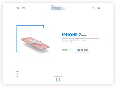 Ecommecre Homepage search header feature slider cart shop ecommerce site web design ui ux