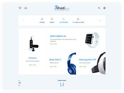 Ecommecre Categories  cart search menu header categories template shope ecommerce web design ui ux