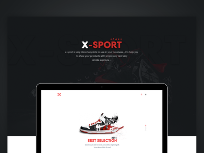 X-Sport Onepage Theme services webdesign website featured slider black red onepage interaction web ui ux