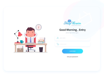 Shop Brian - Dashboard login artwork app webapp web system login dashboard design ui ux